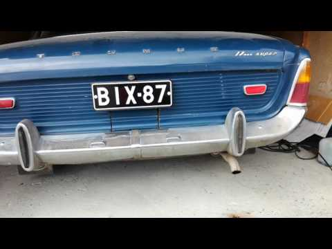 Ford V4 Muffler repair before and after.