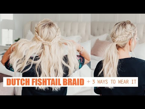 How To Dutch Fishtail Braid + NEW HAIRSTYLE CHALLENGE!!!!