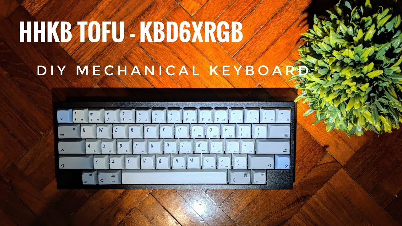 Hhkb Tofu Kbd6xrgb Diy Mechanical Keyboard Youtube