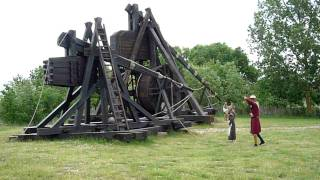Small Trebuchet Firing