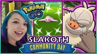 SHINY SLAKOTH COMMUNITY DAY POKÉMON GO!