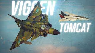 Swedish Viggen Vs F-14 Tomcat Dogfight | Digital Combat Simulator | DCS |