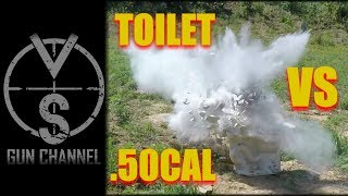 Blowing up a Toilet with a .50Cal