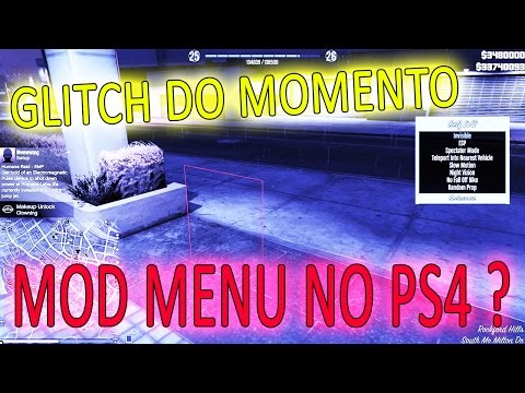 👑PARTE #2 MOD MENU NO PS4? GTA V ONLINE - ESTILO HACKER #CLU
