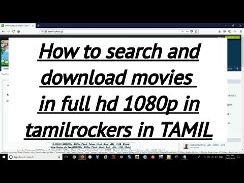 How To Search And Download Movies In  Tamilrockers