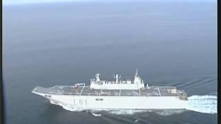 Primer aterrizaje sobre el buque Juan Carlos l