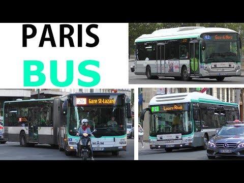 PARIS BUS RATP- Iveco & MAN - Various Buses Original Sound - Mitfahrt +Verschiedene Busse