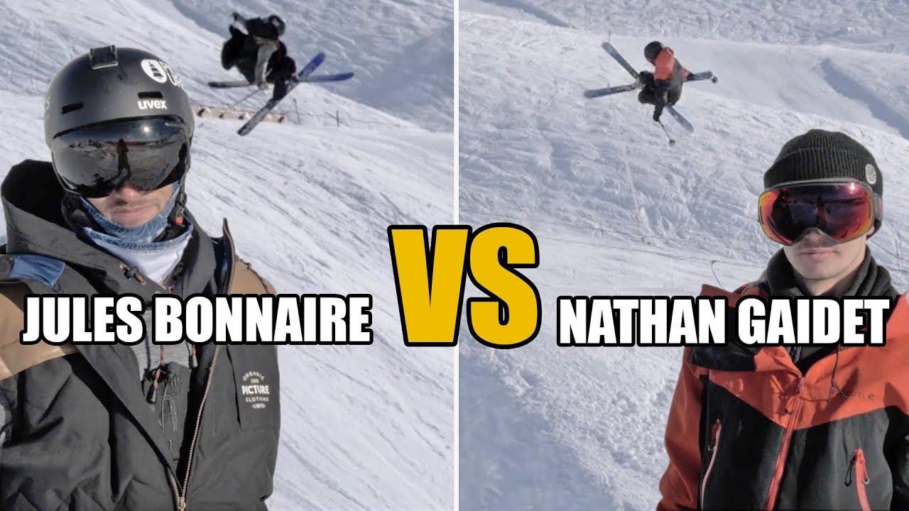 GAME OF S.K.I : Jules Bonnaires et Nathan Gaidet s'affrontent au SNOWPARK !