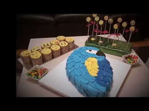 Blue And Yellow Parrot Cake YouTube
