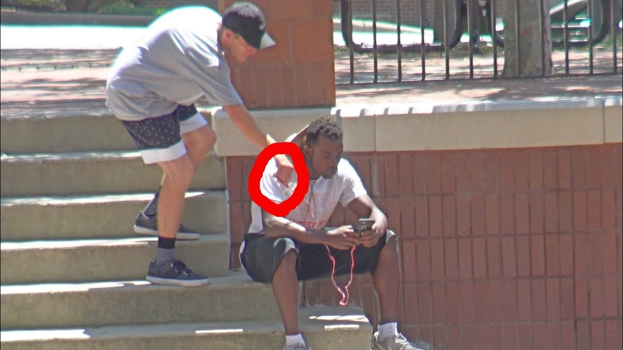 Cutting Peoples Headphones Prank Part 3