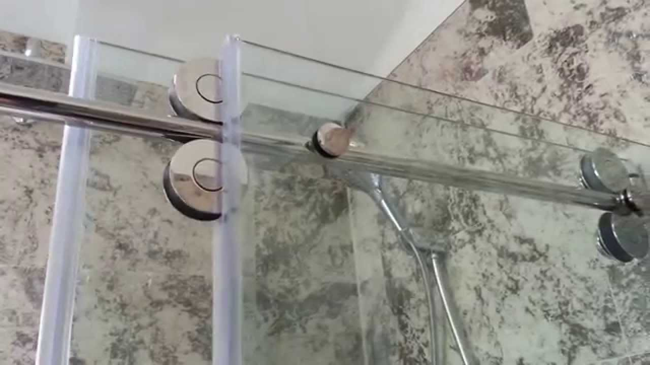 shower door installation - YouTube