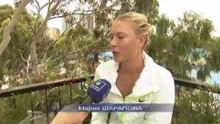 Maria's interview in Russian after 1st round AO.wmv