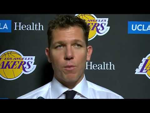 "Luke Walton: ""We need to be better, we need to be a lot better."" 