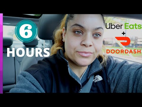 Sunday DoorDash And UberEats \\ 6 HOURS