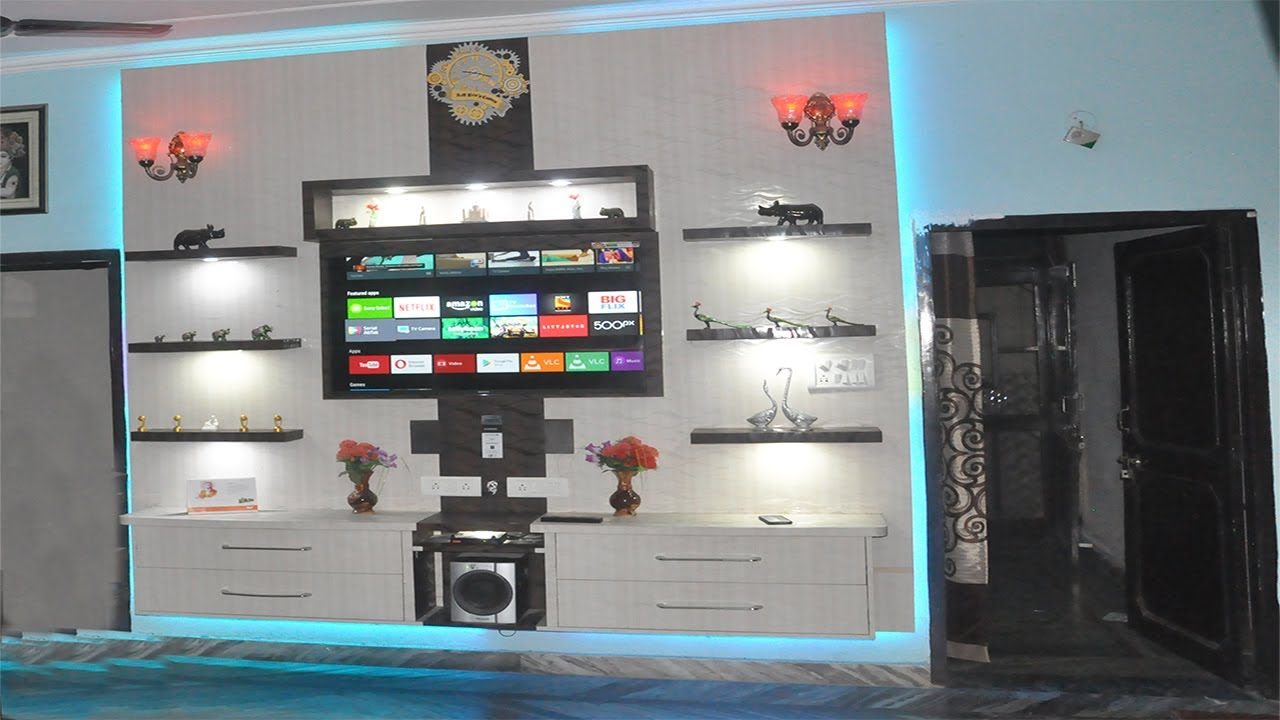 85a9ce1ca57 DIY Floating TV wall unit - YouTube