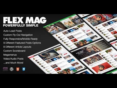 Flex Mag v1.12 – Responsive WordPress News Theme DESCARGA GRATIS ...
