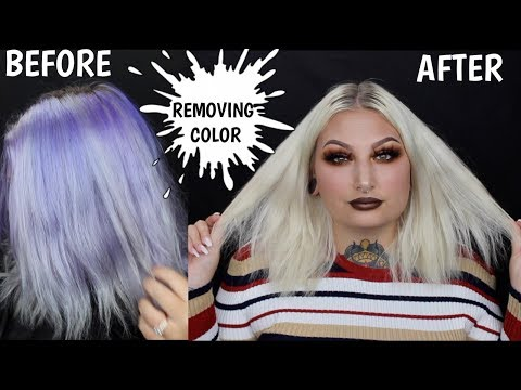 REMOVING HAIR COLOR WITH BLEACH WASH!