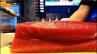 开金枪鱼/Cut Tuna For Sushi/寿司开鱼技巧
