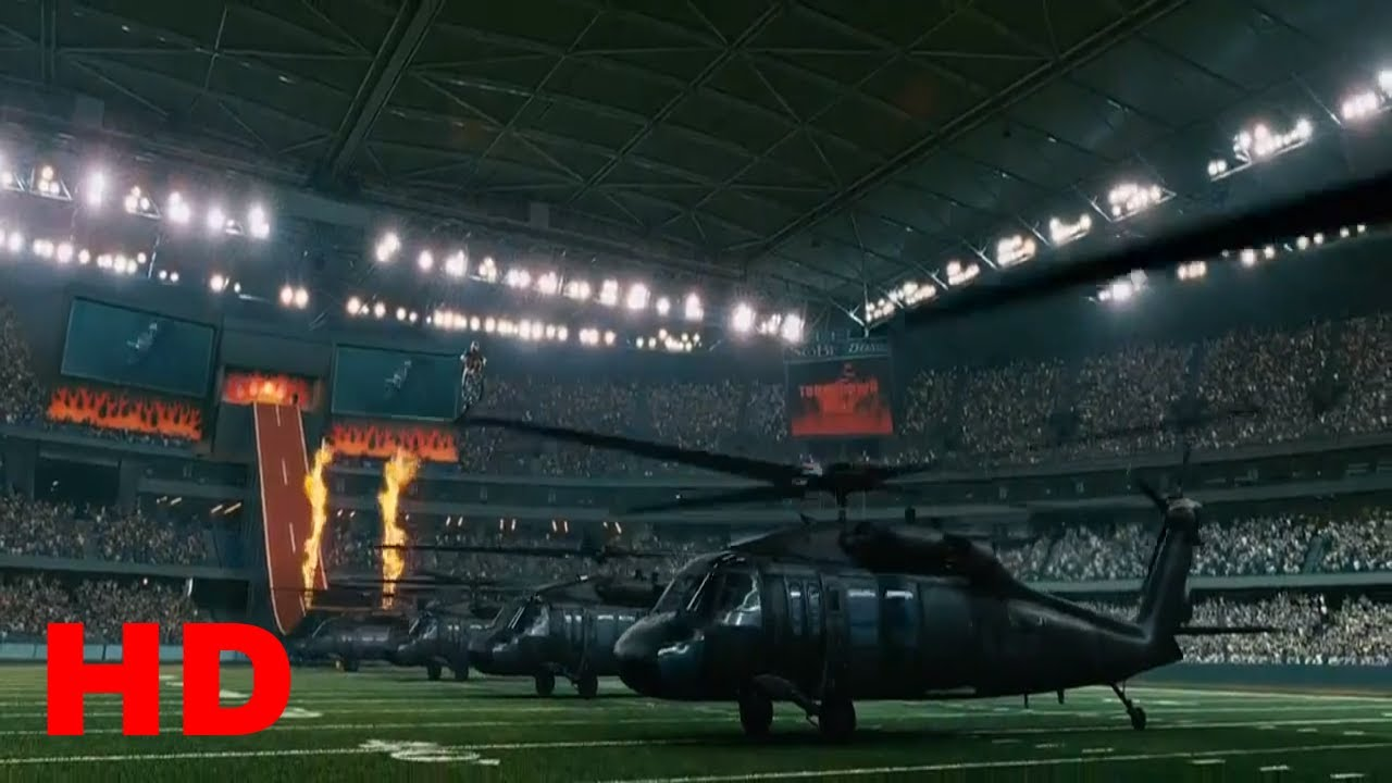 Ghost Rider- JB's Record Jump over 6 Helicopters.