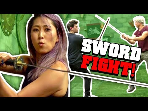 WE LEARN SWORDFIGHTING
