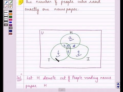 Examplepractical Problem On Union Intersection Of Sets Youtube