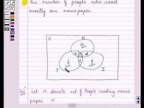 Venn Diagram Formula For 2 Sets Australian Wiring Power Circuit Finite Math: Region Method   Doovi