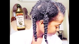 Pre Poo on Natural Hair And Detangling Method