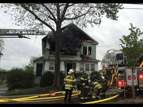 Multifamily house fire on Kopernick St. in Indian Orchard in Springfield, Massachusetts