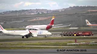Madrid Barajas plane Spotting   Ground movements   35 min of spotting
