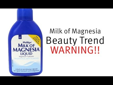 Beauty WARNING: Milk of Magnesia (P.S. Sorry for the blur!)