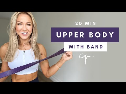 20 Min UPPER BODY WORKOUT at Home with Resistance Band