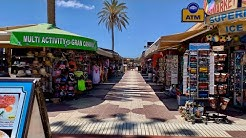 Gran Canaria Playa del Ingles Strandpromenade Juli 2019 4K