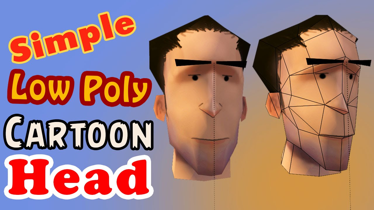 Blender Modeling A Cartoon Character : Blender simple low poly cartoon head modeling youtube