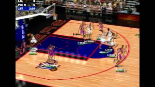NBA Live 2000 PC gameplay: Philadelphia 76ers vs LA Lakers (HD)