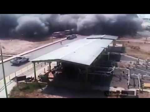 Mega Explosion in oil refinery