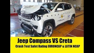 Jeep Compass VS Creta Crash Test Rating|| EURONCAP & LATIN NCAP