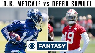 Rookie WRs to WATCH: Metcalf vs Samuel   Fantasy Football Today