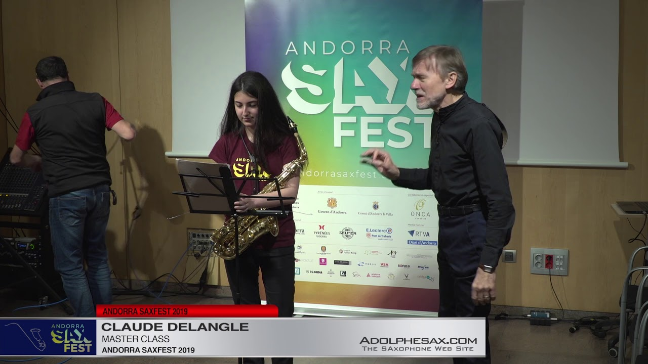 Andorra Saxfest 2019   Claude Delangle Master Class