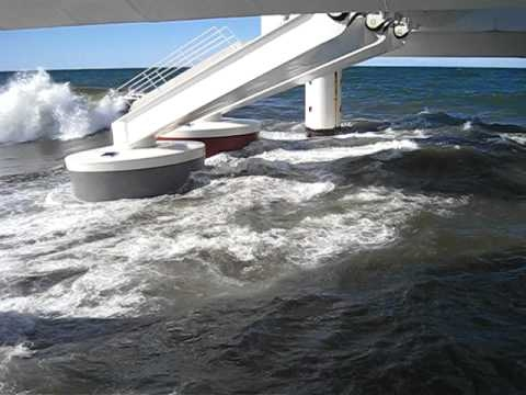Wave Star - wave energy test machine in operation