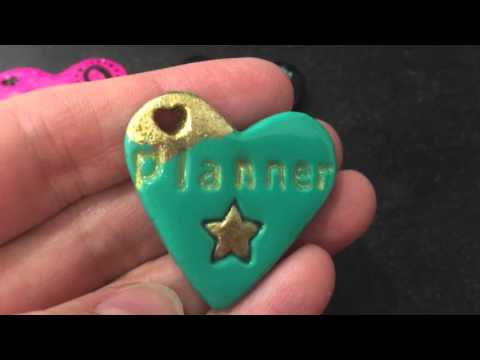 Air Dry Clay Planner Charms and Pendants - First Try.