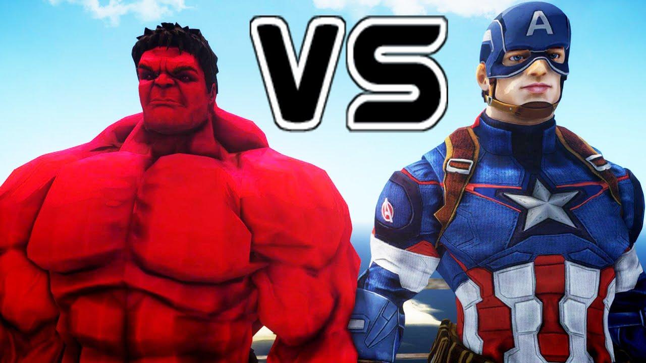red hulk vs captain
