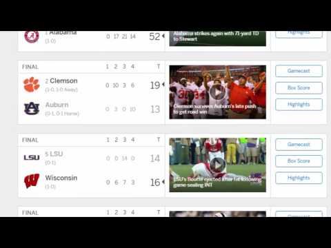 ESPN College Football Scores | College Football Scores 2016 | College Football Scores Today | Sept 4