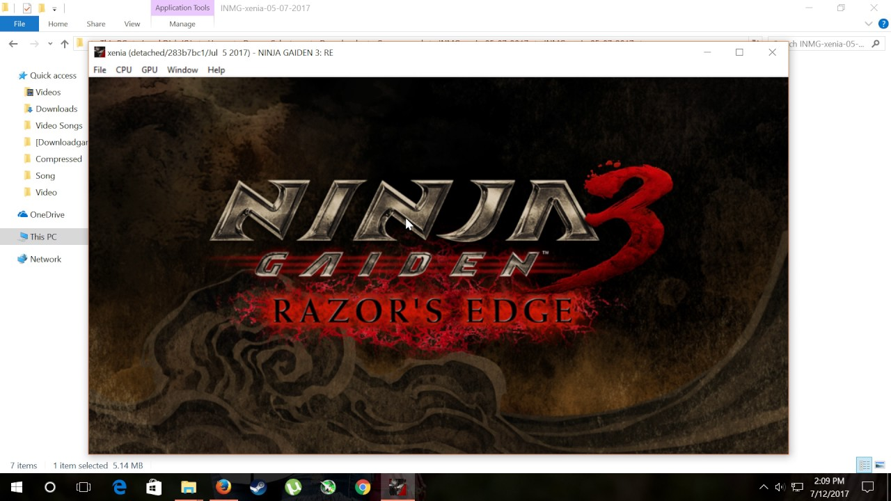 Ninja Gaiden 3 Razors Edge In Menu Xenia Xbox Emulator Youtube