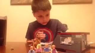 Lego velociraptor chase time lapse