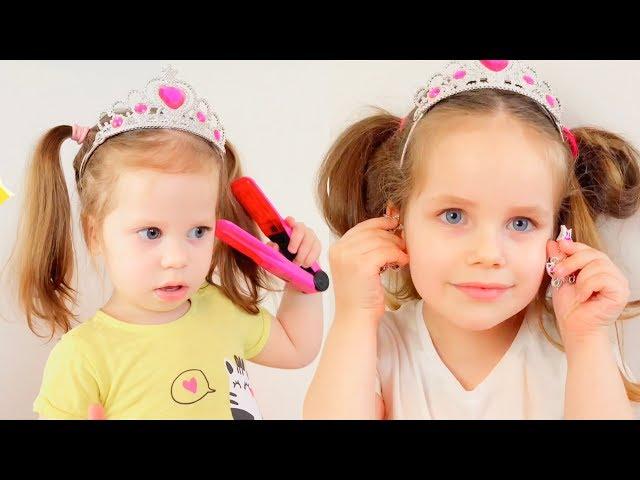 Шопинг в магазине игрушек / Алёна и Аня показывают новые куклы и украшения