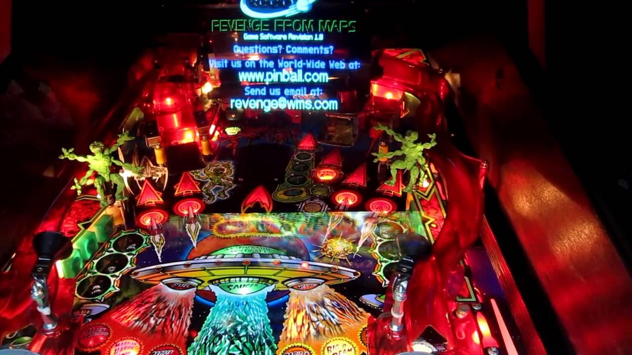Revenge From Mars pinball machine running with Nucore ...