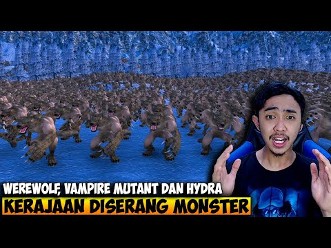 PASUKAN KERAJAAN VS VAMPIRE DAN LYCANS WEREWOLF - ULTIMATE EPIC BATTLE SIMULATOR INDONESIA #14 - 동영상