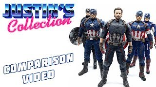 Hot Toys Infinity War Captain America Comparison Video