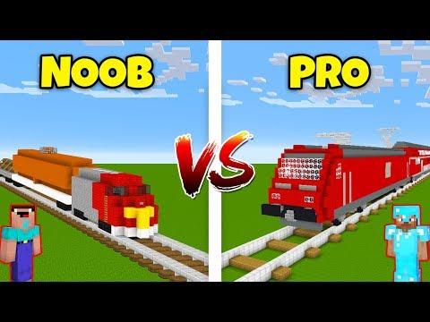 Minecraft NOOB vs. PRO: TRAIN in Minecraft! AVM SHORTS Animation thumbnail