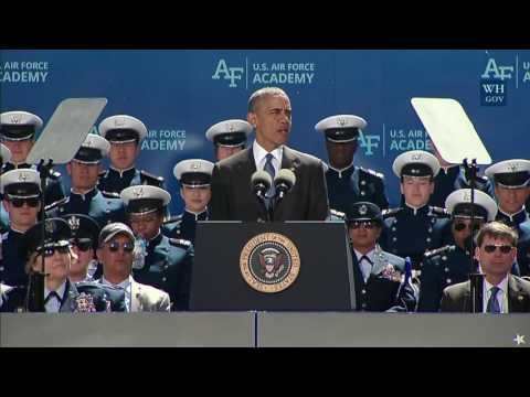 President Obama Addresses the 2016 U.S. Air Force Academy Gr